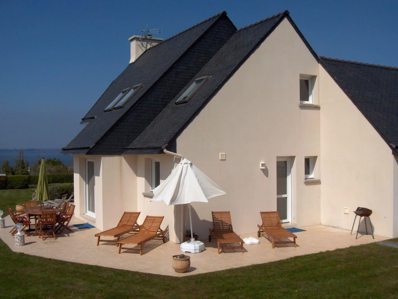 Terrasse de 70 m2 vue mer