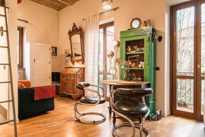 Charming bohémien studio in Pigneto