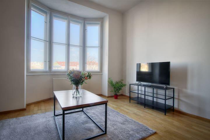 Spacious modern design apartment in trendy area