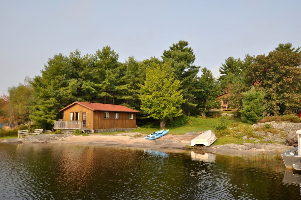 Cottage #2 is the one behind the waterfront cottage and enjoys wonderful privacy!