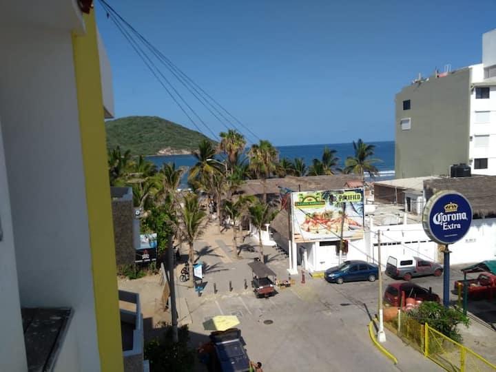 Depa para turistas pie de playa  zona turística C6