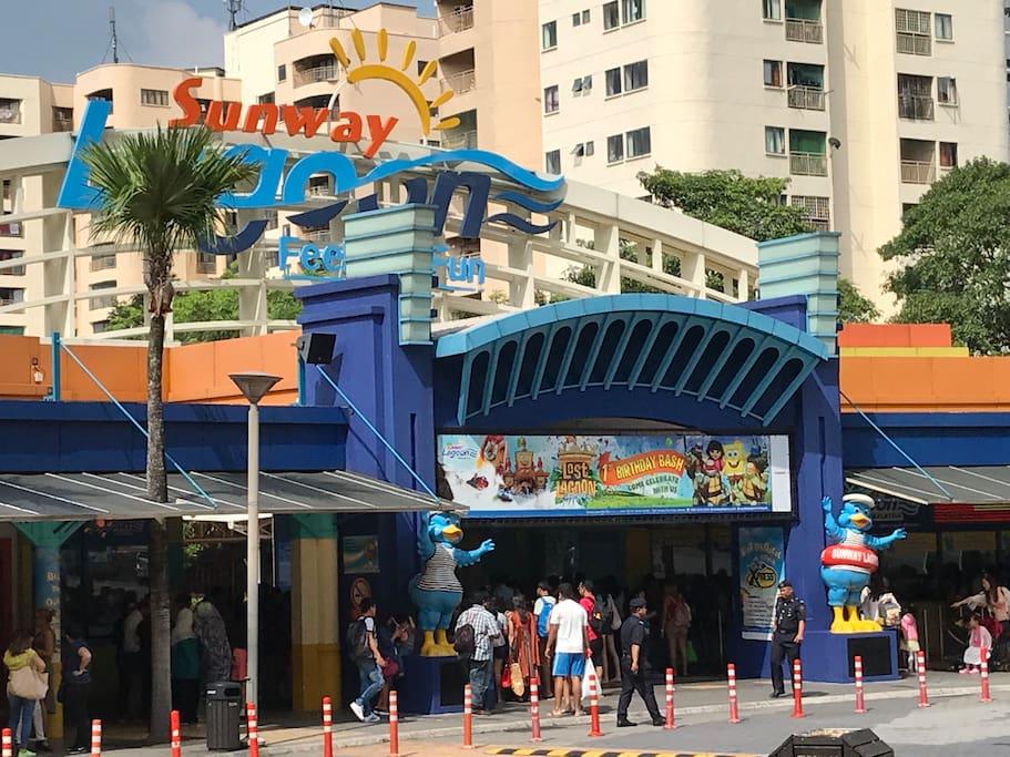Sunway Lagoon Water Theme Park.