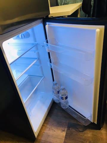 Mini fridge in the room