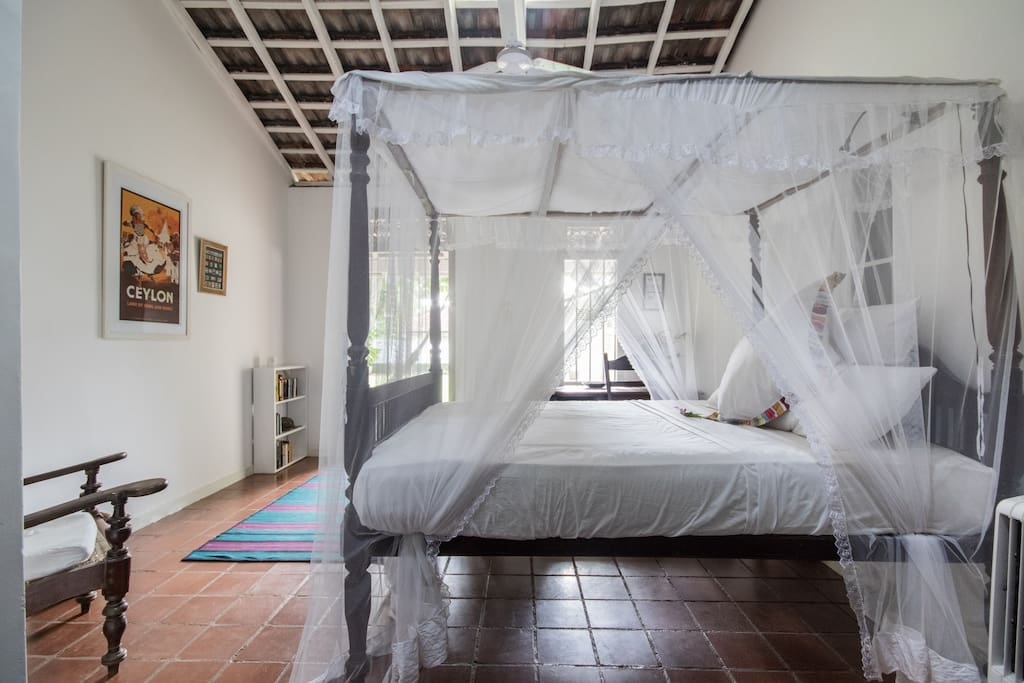 Mosquito netted beds for your comfort!