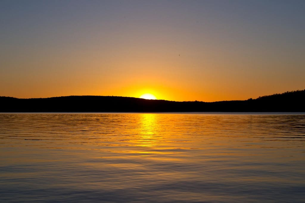 Sunset on Lake Wallenpaupack is something not to miss!