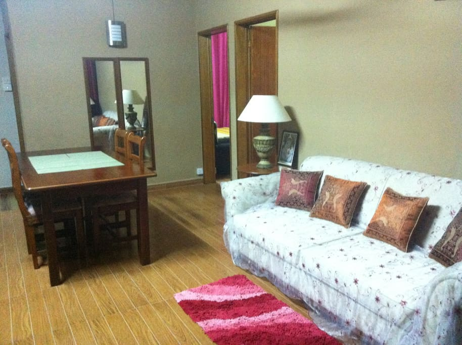 Mauritius, Grand Baie; Residence Le Camelia: Living Room