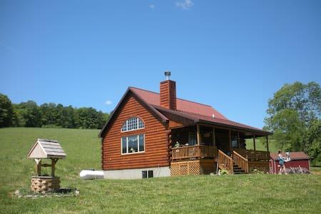 Charming Upstate Mountain Log Home