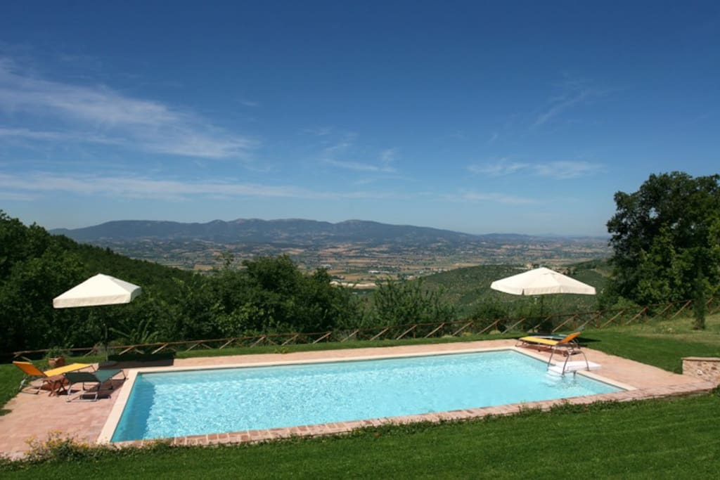 The Pool is panoramic on the valley