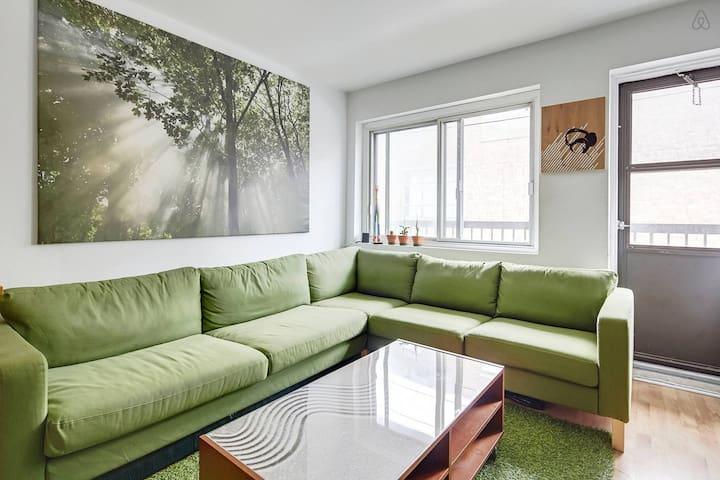 Jardin d int rieur et lit de r ve appartements louer montr al qu bec canada - Jardin interieur montreal colombes ...