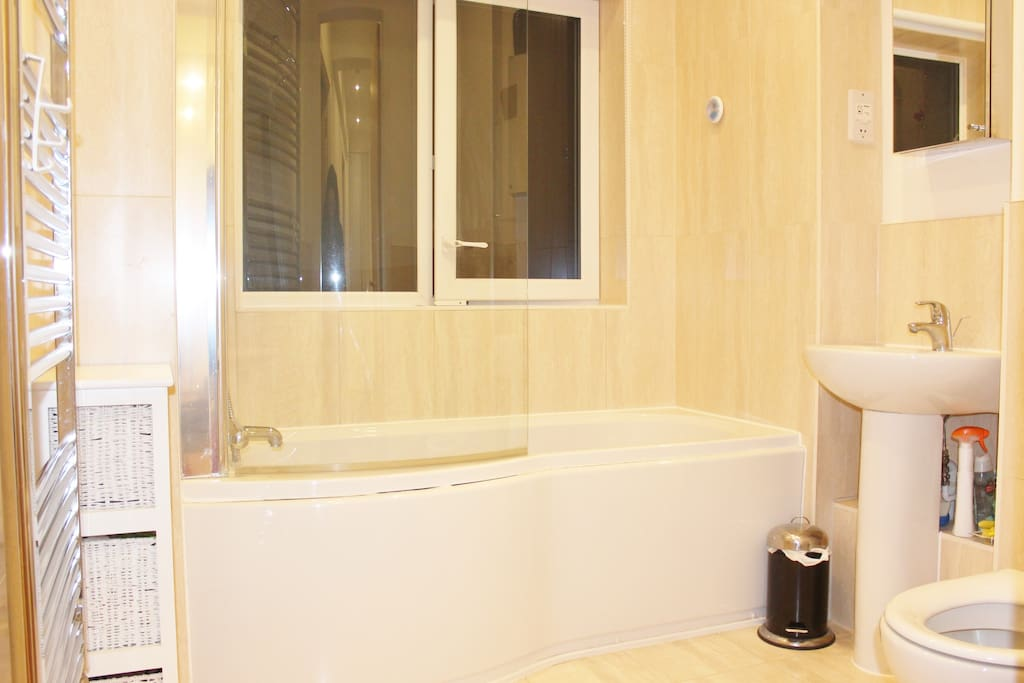 Big new bathroom!..Attached to your room!!!..always available as you'll share only with Irene that works all day!!