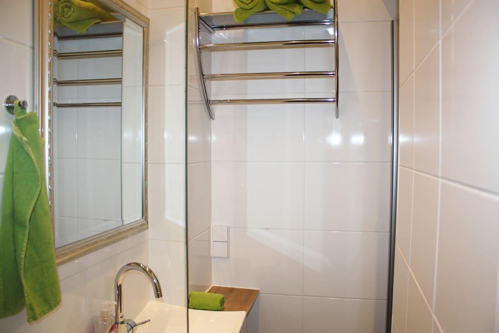 kleines, stilvolles Badezimmer
