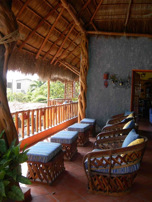 Typical Palapa Verandah to relax and enjoy views