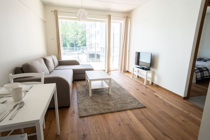 Stylish new 1BR with terrace in perfect location