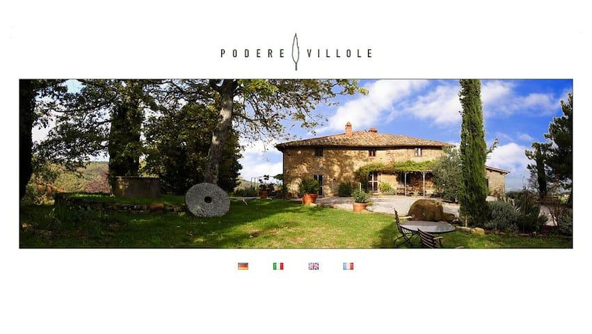 Podere Villole Toskana Chianti Apartment Siena - Moncioni - Pis