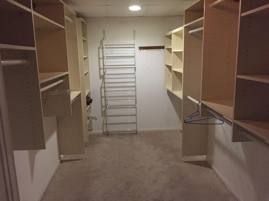 Extremely spacious and large walk in closet
