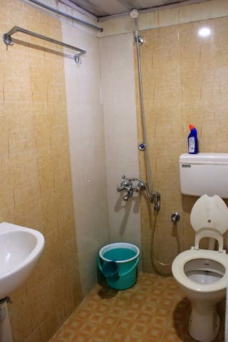 A third independent bathroom with a shower