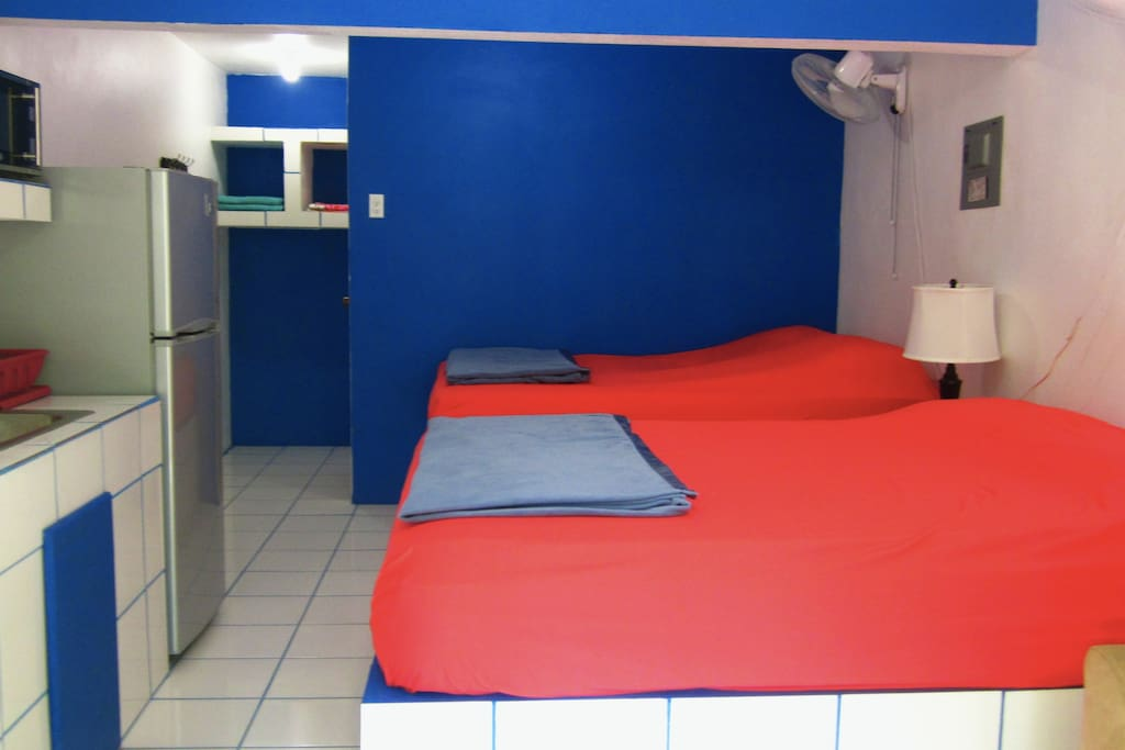 UNIT 2 - Interior - two queen-sized beds