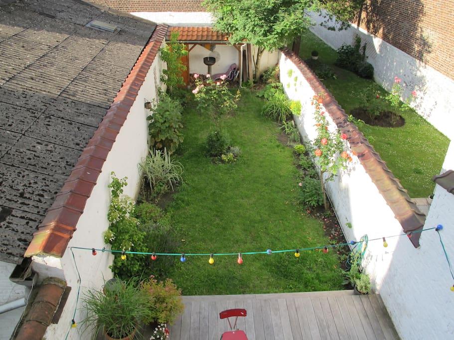 Garden view from children room