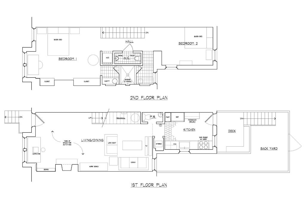 1st & 2nd Floor Plans.