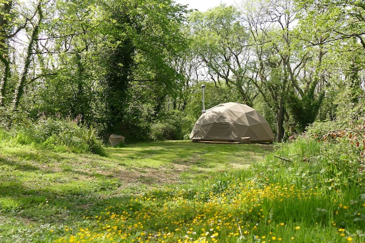 Geodesic Dome on the Pembrokeshire Coast