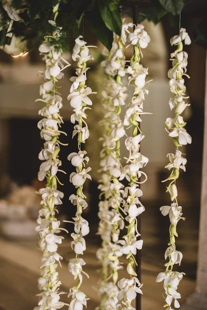 Dettagli materiale floreale