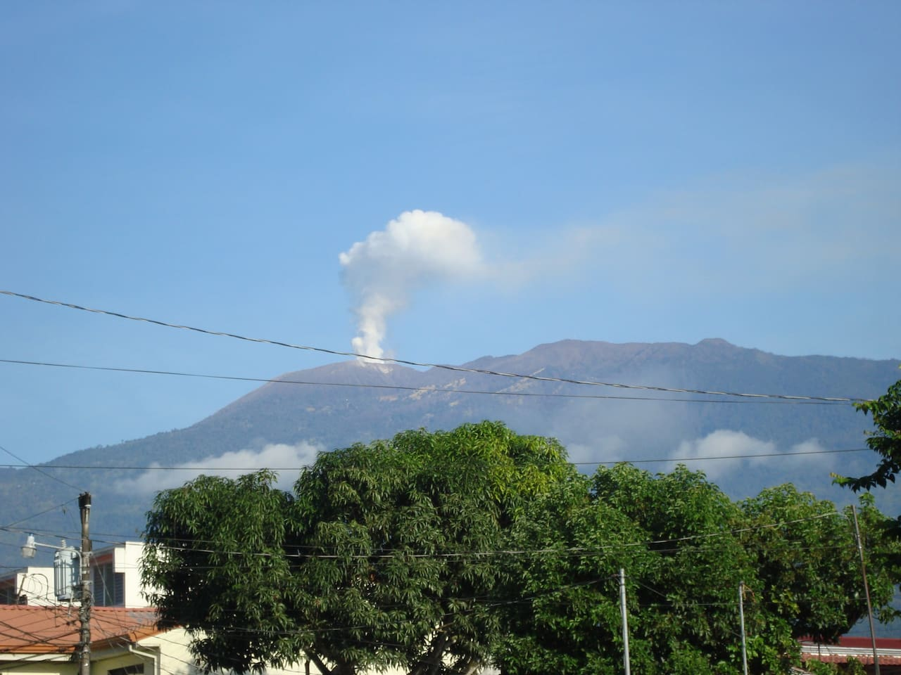 Turrialba´s volcano - View from the house