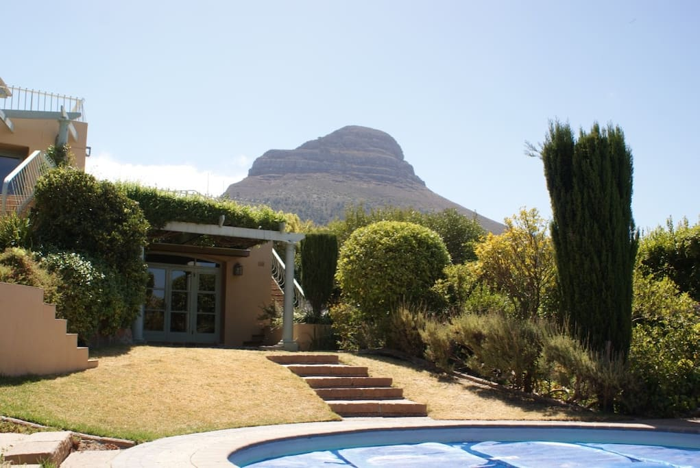 View of Lion's Head from the pool