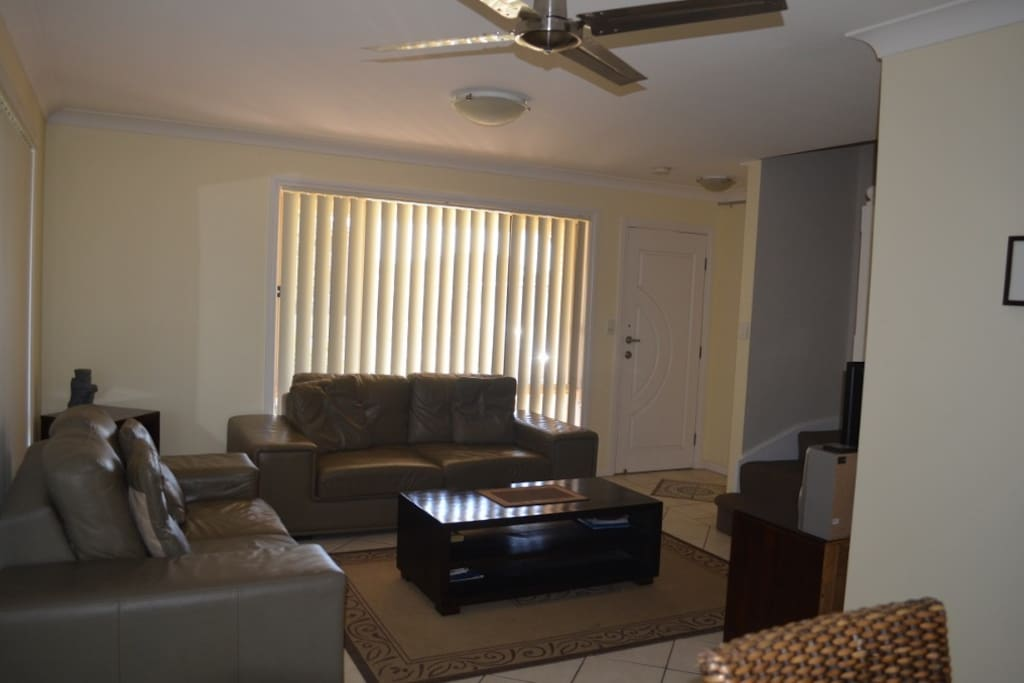 lounge room with TV, DVD sound system