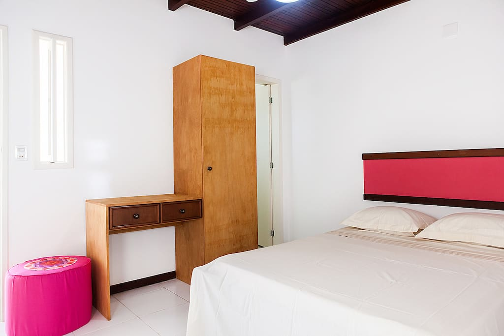 Here is your comfortable double bed. Your room has a private bathroom within it and is located on the first floor.