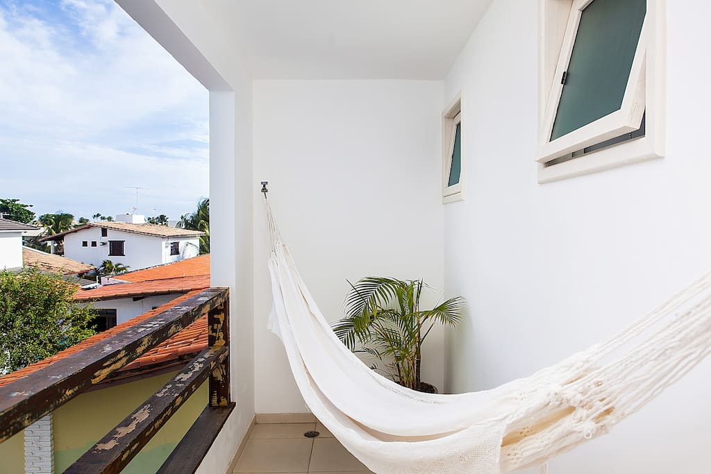 Lovely balcony with hammock.