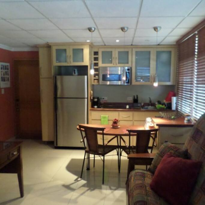 Full view of the kitchen.