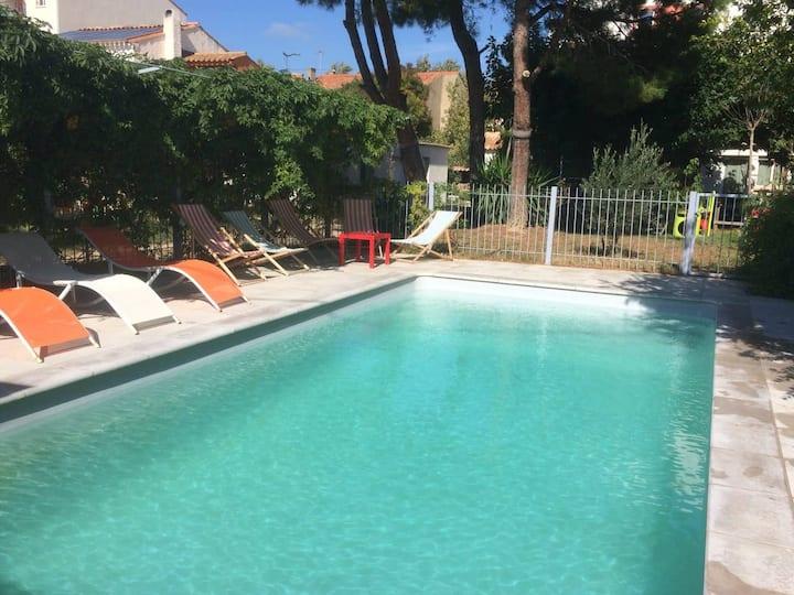 Villa (170 m2) Narbonne avec piscine et jacuzzi