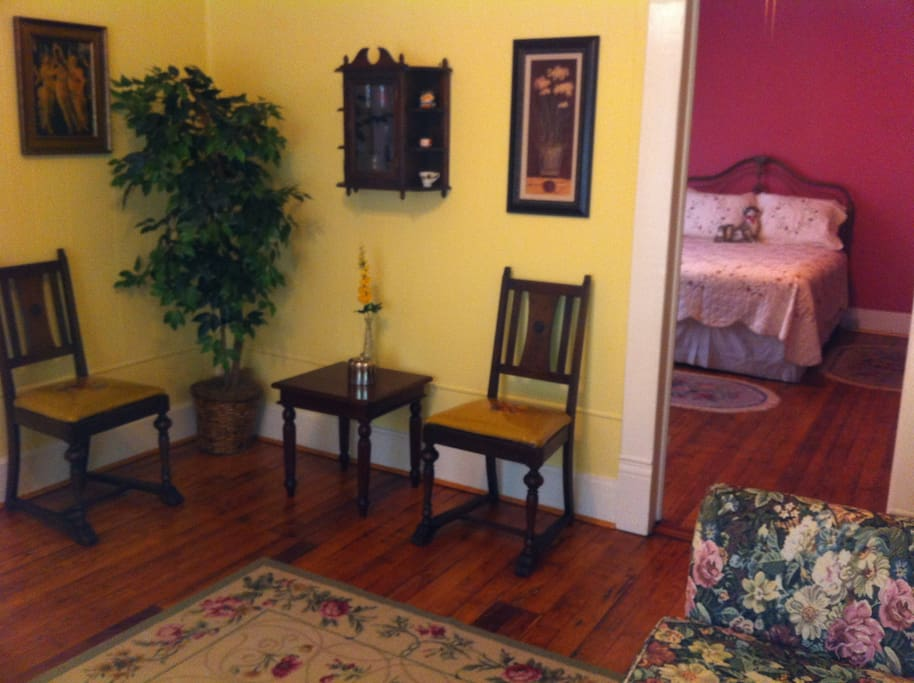 Tasteful decor and antiques make the Brooks Suite an inviting retreat for our guests.