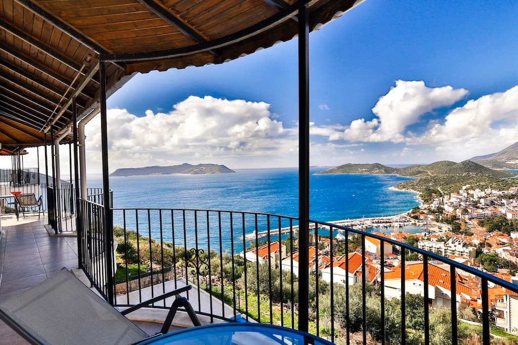 The best view in Kas from the full length front balcony.
