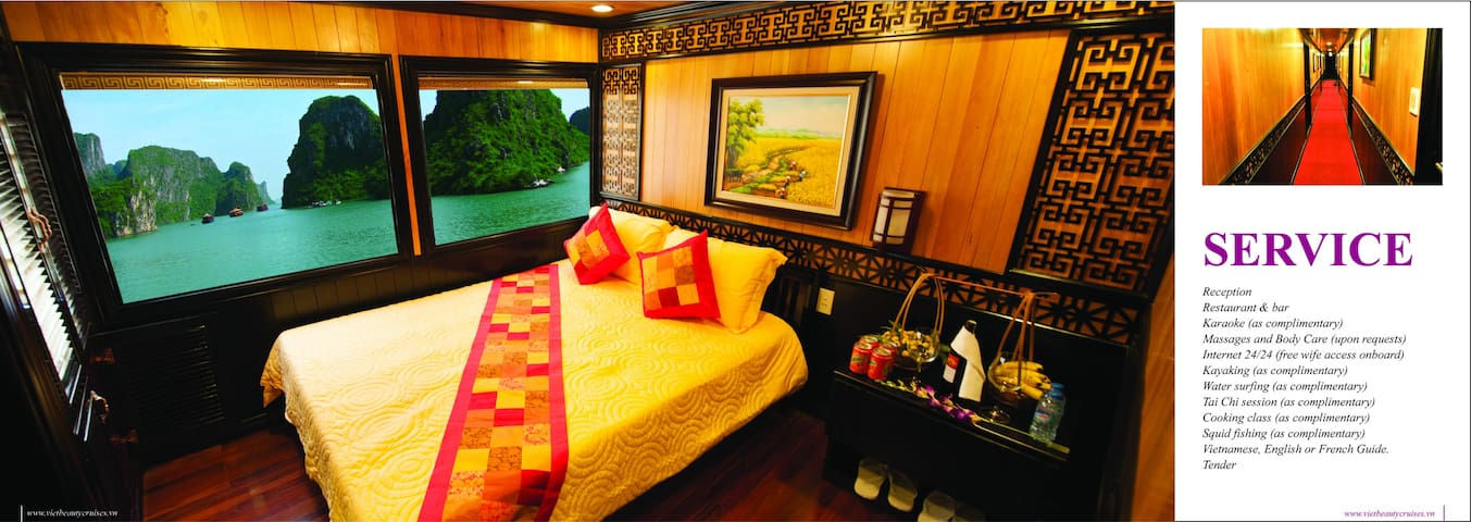 The Viet Beauty Cruise, Halong - Hạ Long - Cabana