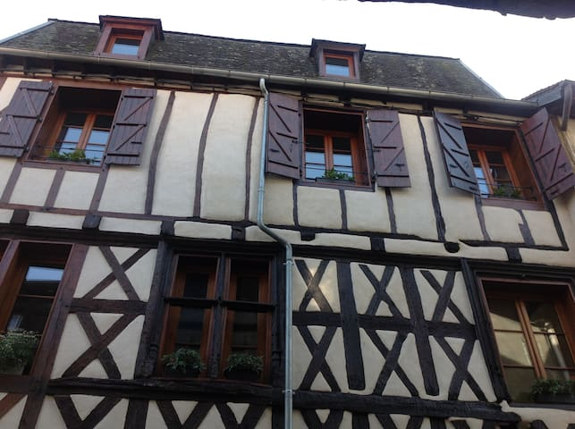 15th century colombage house now 3 individual one bedroom apartments