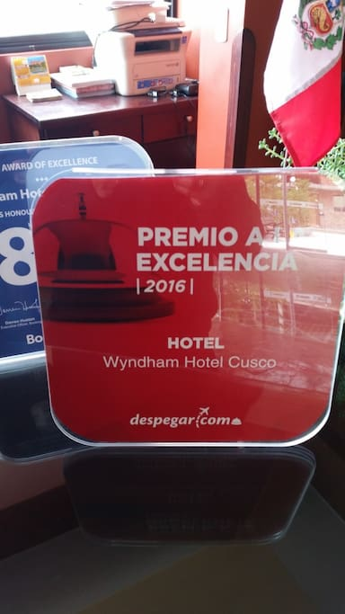 award for excellent hotel