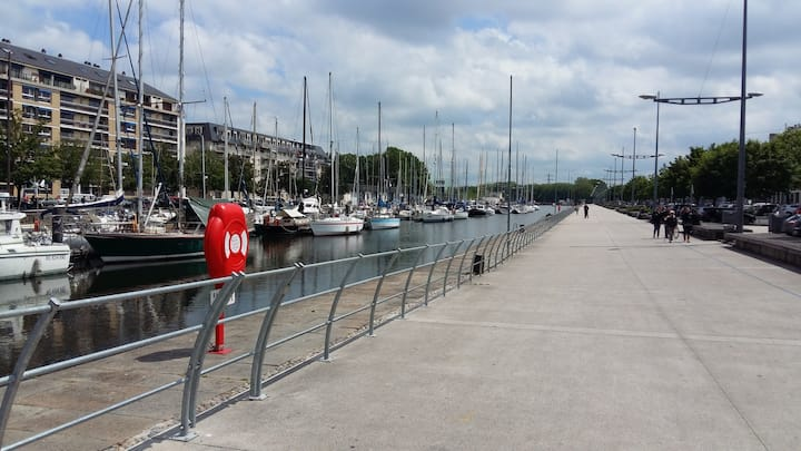 Studio quartier port de plaisance Caen