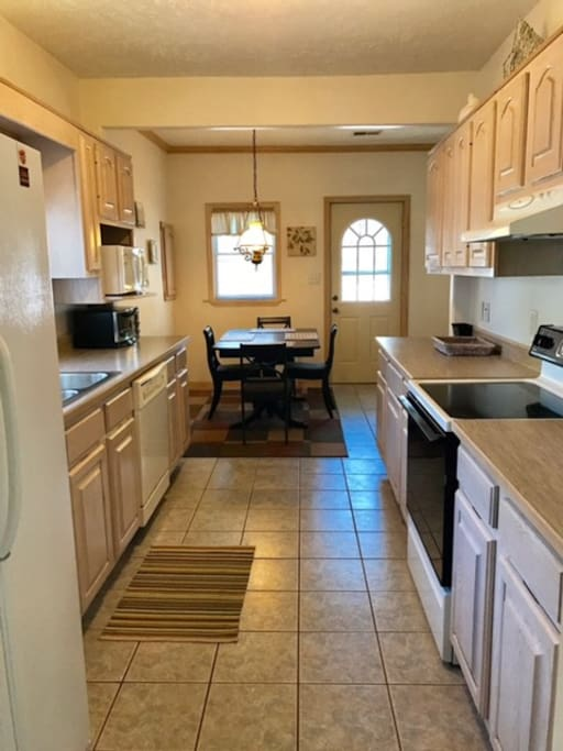 Kitchen with eating area.
