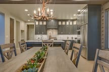 Dining area flows from Kitchen