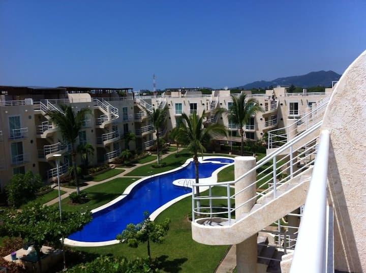 Depa Equipado WIFI Marina Diamante Acapulco