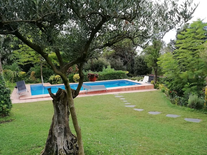 Studio with pool & barbeque in Montseny