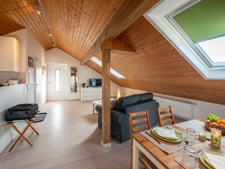 Holledau Apartments Familie Gmeineder (Au in der Hallertau), Dachgeschoss-Apartment 15 im Nebengebäude