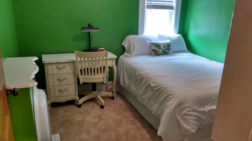 Bedroom on 2nd floor; small with no closet