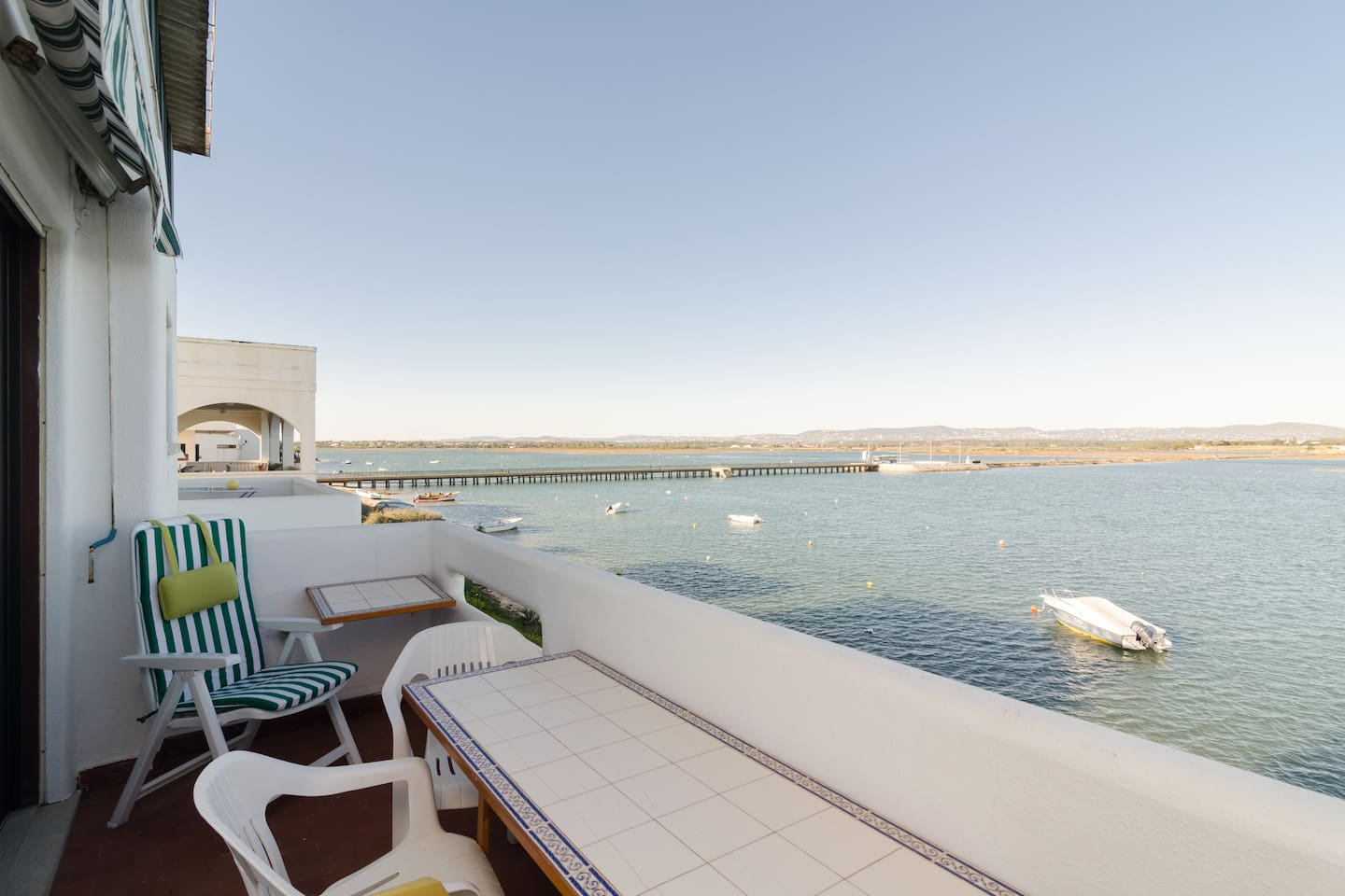 View of the balcony with amazing views to the Natural Reserve and its lagoon.