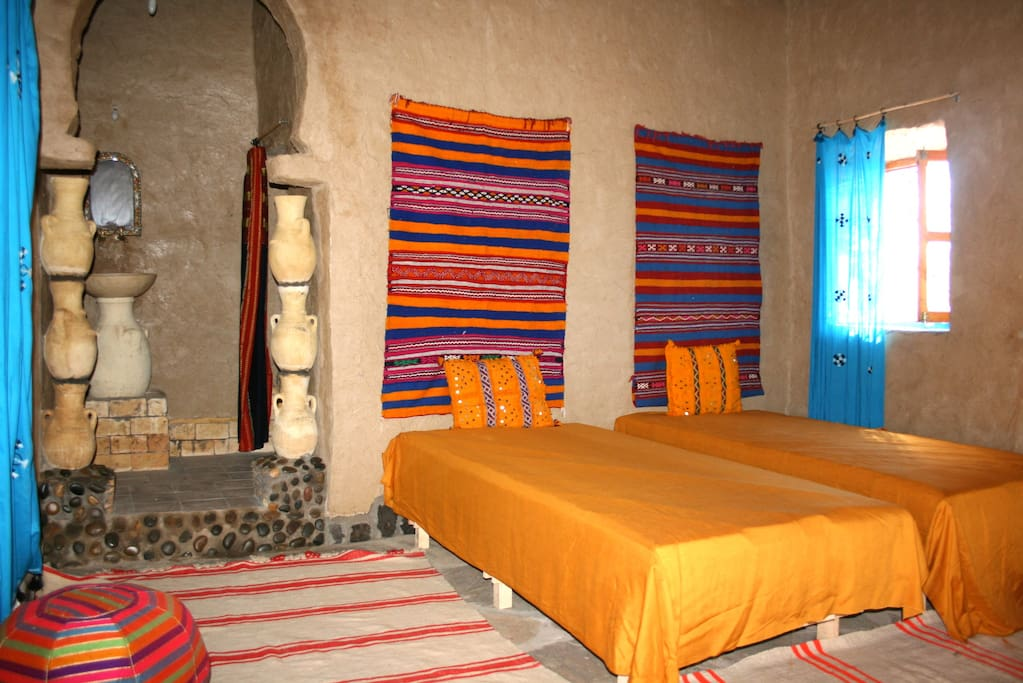 habitación arena del desierto.