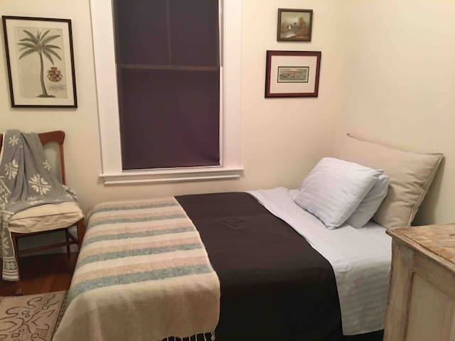 Bedroom with queen sofa bed