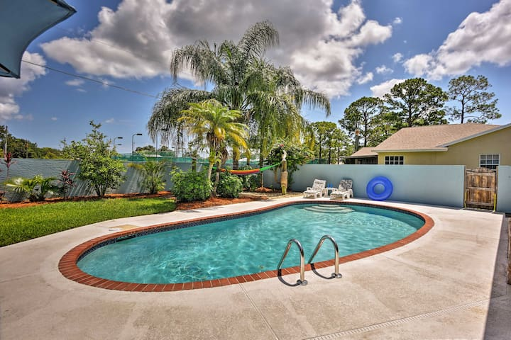 Sebastian Home w/Private Pool & BBQ-7mi from Beach