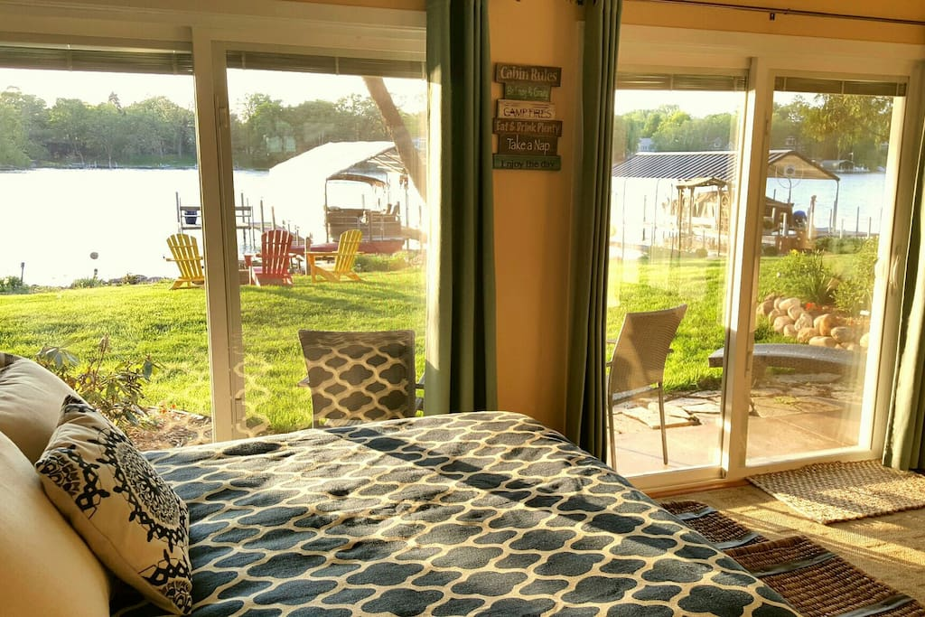 When you wake up, this is your lake view.