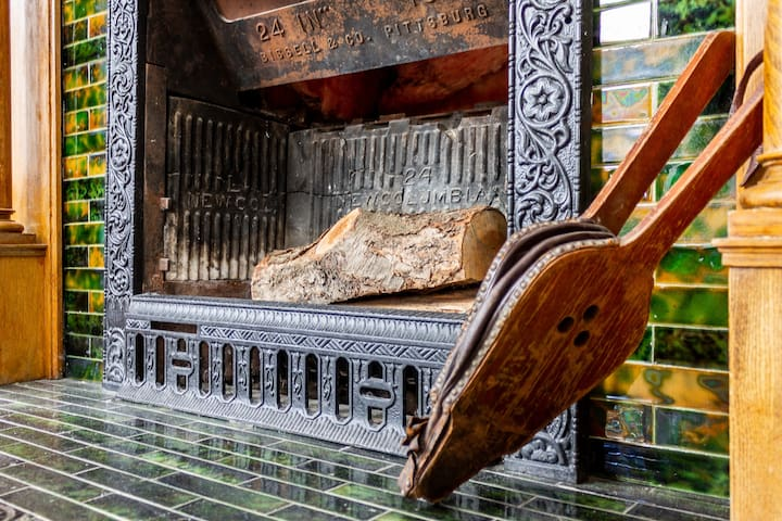 Although the 2 fireplaces are not functional their original beauty has been preserved.